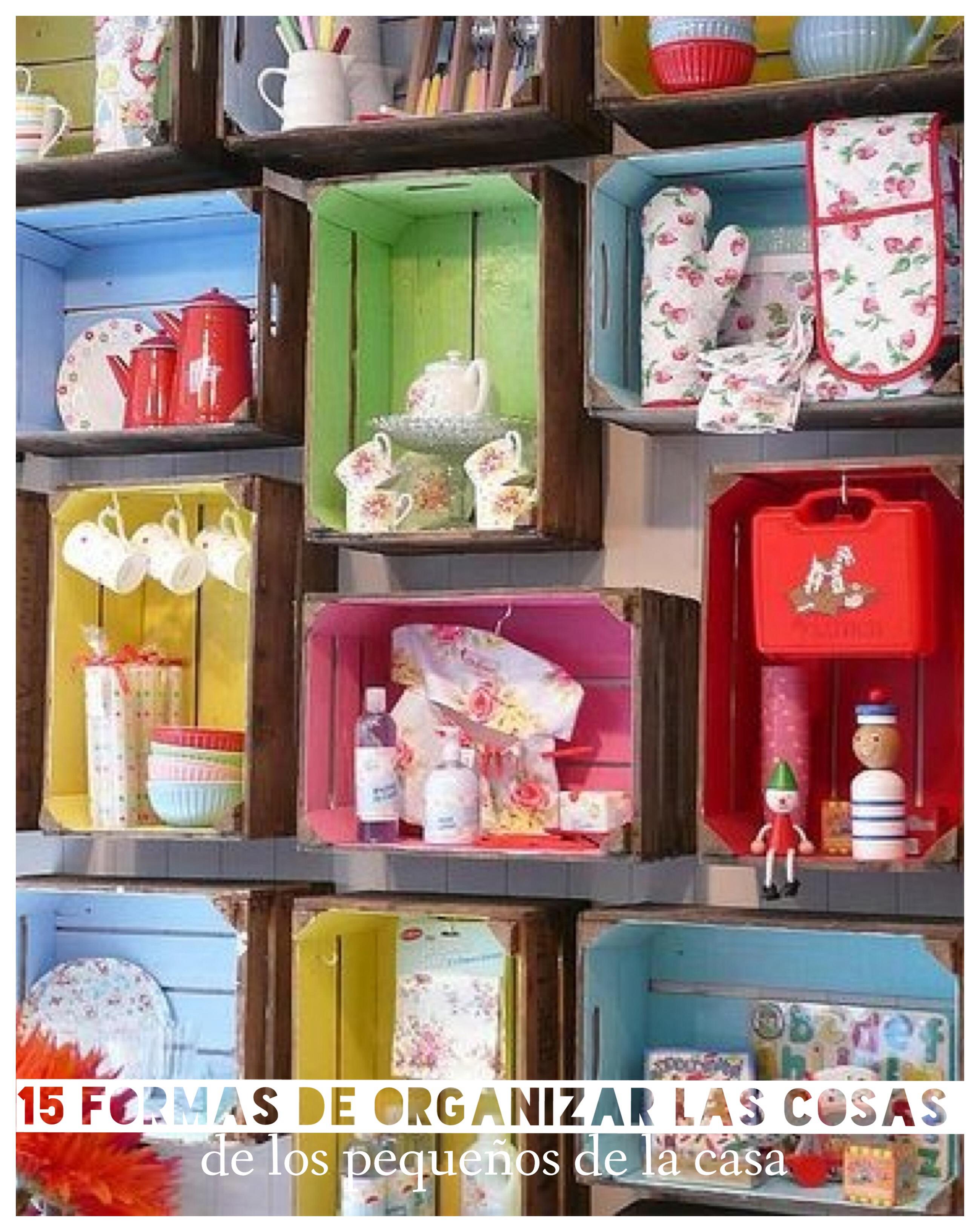 15 ideas para organizar las cosas de los ni os - Organizar habitacion ninos ...
