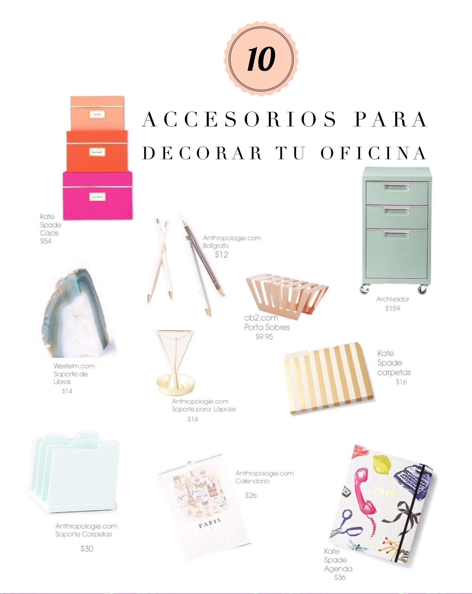 10 accesorios para decorar tu oficina con mucho estilo for Accesorios para decorar